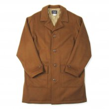 THE FABRIC WEST SIDE WOOL COAT -brown-