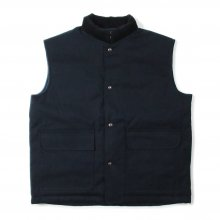 THE FABRIC DUCK VEST -navy-