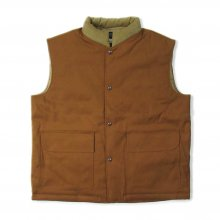 THE FABRIC DUCK VEST -brown-