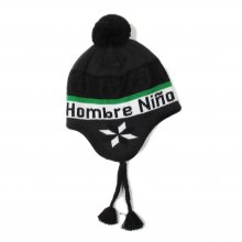<img class='new_mark_img1' src='https://img.shop-pro.jp/img/new/icons14.gif' style='border:none;display:inline;margin:0px;padding:0px;width:auto;' />Hombre Nino EARFLAP BEANIE -blakc-