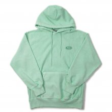 SAYHELLO CASH LOGO EMBROIDERY PIGMENT DYED HEAVY HOODIE -mint-