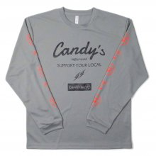 O3 RUGBY GAME wear & goods Candy's S.Y.L. L/S TEE -gray/neon orange-