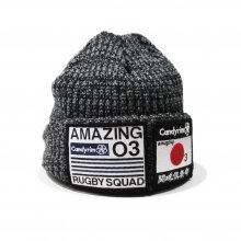 <img class='new_mark_img1' src='//img.shop-pro.jp/img/new/icons14.gif' style='border:none;display:inline;margin:0px;padding:0px;width:auto;' />O3 RUGBY GAME wear & goods 闘球倶楽部 KNIT CAP with fleece -gray-