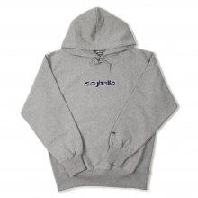 <img class='new_mark_img1' src='//img.shop-pro.jp/img/new/icons14.gif' style='border:none;display:inline;margin:0px;padding:0px;width:auto;' />SAYHELLO BASMATI LOGO EMBROIDERY HEAVY HOODIE -heather gray-