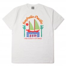 SAYHELLO PACIFIC S/S TEE -white-