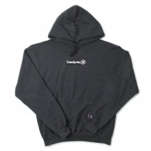 CANDYRIM -wareline- BOX LOGO ECO PULLOVER HOODIE -heather charcoal gray/black-