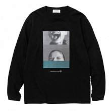 POET MEETS DUBWISE KILLMAN JAH LOW WORKS COLLAGE 1 LONG SLEEVE TEE -black-