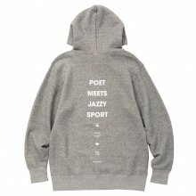 POET MEETS DUBWISE JAZZY SPORT COLLABORATION HOODIE -gray-