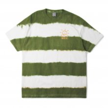 <img class='new_mark_img1' src='https://img.shop-pro.jp/img/new/icons14.gif' style='border:none;display:inline;margin:0px;padding:0px;width:auto;' />SAYHELLO BORDER  Tie-dye S/S TEE -white/green-