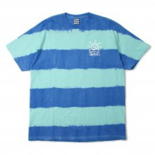 <img class='new_mark_img1' src='https://img.shop-pro.jp/img/new/icons14.gif' style='border:none;display:inline;margin:0px;padding:0px;width:auto;' />SAYHELLO BORDER  Tie-dye S/S TEE -celadon/navy-