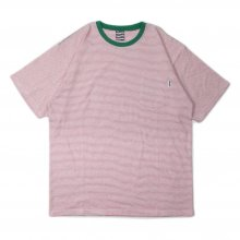 SAYHELLO BORDER Trim Border S/S Tee -red-