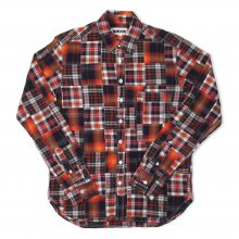 <img class='new_mark_img1' src='//img.shop-pro.jp/img/new/icons14.gif' style='border:none;display:inline;margin:0px;padding:0px;width:auto;' />TRANSPORT Patcwork Shirt -red-