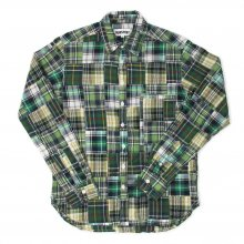 <img class='new_mark_img1' src='//img.shop-pro.jp/img/new/icons14.gif' style='border:none;display:inline;margin:0px;padding:0px;width:auto;' />TRANSPORT Patcwork Shirt -green-