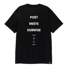 POET MEETS DUBWISE PMD LOGO T-Shirt -black-