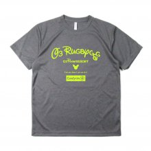 <img class='new_mark_img1' src='//img.shop-pro.jp/img/new/icons14.gif' style='border:none;display:inline;margin:0px;padding:0px;width:auto;' />O3 RUGBY GAME wear & goods RUGBY RESORT dry TEE -ash gray / neon yellow-