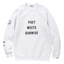 <img class='new_mark_img1' src='//img.shop-pro.jp/img/new/icons14.gif' style='border:none;display:inline;margin:0px;padding:0px;width:auto;' />POET MEETS DUBWISE New PMD Raglan Sweat -white-