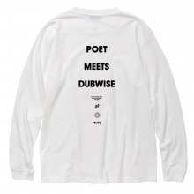 <img class='new_mark_img1' src='//img.shop-pro.jp/img/new/icons14.gif' style='border:none;display:inline;margin:0px;padding:0px;width:auto;' />POET MEETS DUBWISE PMD LOGO Long Sleeve T-Shirt -white-