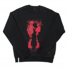 <img class='new_mark_img1' src='//img.shop-pro.jp/img/new/icons14.gif' style='border:none;display:inline;margin:0px;padding:0px;width:auto;' />AKA SIX simon barker × FRAGMENT DESIGN COWBOYS RED PRINT JUMP SWEAT SHIRT -black-