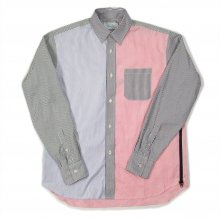 <img class='new_mark_img1' src='https://img.shop-pro.jp/img/new/icons14.gif' style='border:none;display:inline;margin:0px;padding:0px;width:auto;' />Hombre Nino CRAZY PATTERN VENTILATION SHIRT -stripe pink-