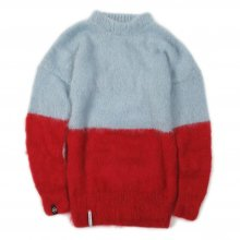 "<img class='new_mark_img1' src='https://img.shop-pro.jp/img/new/icons14.gif' style='border:none;display:inline;margin:0px;padding:0px;width:auto;' />AKA SIX simon barker × FRAGMENT DESIGN ""MOHAIR JUMPER HALF N HALF"" -light blue/red-"
