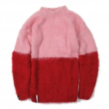 "<img class='new_mark_img1' src='https://img.shop-pro.jp/img/new/icons14.gif' style='border:none;display:inline;margin:0px;padding:0px;width:auto;' />AKA SIX simon barker × FRAGMENT DESIGN ""MOHAIR JUMPER HALF N HALF"" -pink/red-"