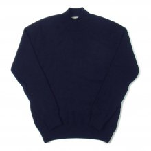 <img class='new_mark_img1' src='https://img.shop-pro.jp/img/new/icons14.gif' style='border:none;display:inline;margin:0px;padding:0px;width:auto;' />Mars Knitwear Lambswool Plain Knit Turtle Neck Sweater Made in England -dark navy-