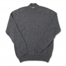 <img class='new_mark_img1' src='https://img.shop-pro.jp/img/new/icons14.gif' style='border:none;display:inline;margin:0px;padding:0px;width:auto;' />Mars Knitwear Lambswool Plain Knit Turtle Neck Sweater Made in England -gray-