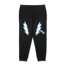 <img class='new_mark_img1' src='https://img.shop-pro.jp/img/new/icons14.gif' style='border:none;display:inline;margin:0px;padding:0px;width:auto;' />CANDYRIM -wareline- LIGHTNING SWEAT PANTS -black/white/saxblue-