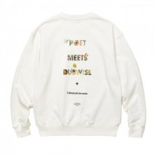 POET MEETS DUBWISE Killiman Jah Low Works PMD Logo Collage Inkjet Heavy Weight Sweat -white-
