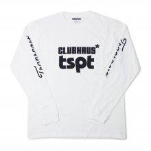 TRANSPORT × CLUBHAUS L/S Shirts - white