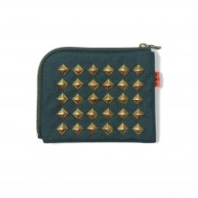 <img class='new_mark_img1' src='https://img.shop-pro.jp/img/new/icons14.gif' style='border:none;display:inline;margin:0px;padding:0px;width:auto;' />THE COLOR NYLON STUDS HALF WALLET -green-