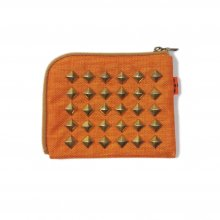 <img class='new_mark_img1' src='https://img.shop-pro.jp/img/new/icons14.gif' style='border:none;display:inline;margin:0px;padding:0px;width:auto;' />THE COLOR NYLON STUDS HALF WALLET -orange-