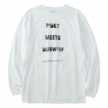 <img class='new_mark_img1' src='https://img.shop-pro.jp/img/new/icons14.gif' style='border:none;display:inline;margin:0px;padding:0px;width:auto;' />POET MEETS DUBWISE PMD Photo Logo Long Sleeve T-shirt -white-