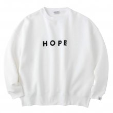 <img class='new_mark_img1' src='https://img.shop-pro.jp/img/new/icons14.gif' style='border:none;display:inline;margin:0px;padding:0px;width:auto;' />POET MEETS DUBWISE HOPE Oversized Sweat -white-