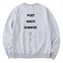 <img class='new_mark_img1' src='https://img.shop-pro.jp/img/new/icons14.gif' style='border:none;display:inline;margin:0px;padding:0px;width:auto;' />POET MEETS DUBWISE PMD COMMUNE Raglan Sleeve Sweat -m.gray-