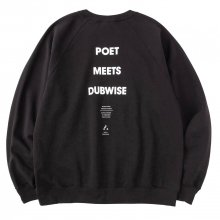 <img class='new_mark_img1' src='https://img.shop-pro.jp/img/new/icons14.gif' style='border:none;display:inline;margin:0px;padding:0px;width:auto;' />POET MEETS DUBWISE PMD COMMUNE Raglan Sleeve Sweat -black-