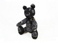 """CANDYRIM×BMF """"TEDDY BEAR"""" BLACK BANDANA"""