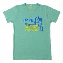 """<img class='new_mark_img1' src='https://img.shop-pro.jp/img/new/icons26.gif' style='border:none;display:inline;margin:0px;padding:0px;width:auto;' />SNAKE'S PORNO WHEEL × JAZZY SPORT """"JAZZY SNAKE"""" TEE"""