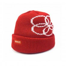 CANDYRIM -wareline- LOGO KNIT CAP -red-
