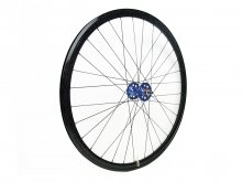 CANDYRIM BLACK with Rainbow Lamé RIM & BLUE HUB FRONT WHEEL