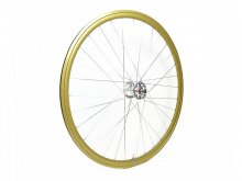 CANDYRIM GOLD with Rainbow Lamé RIM & SILVER HUB FRONT WHEEL