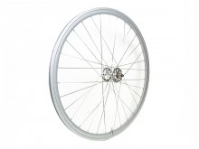 CANDYRIM SILVER with Rainbow Lamé RIM & SILVER HUB FRONT WHEEL