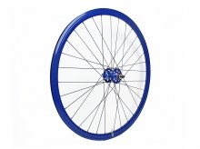 CANDYRIM BLUE with Rainbow Lamé RIM & BLUE HUB REAR WHEEL