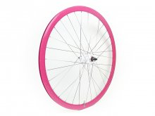 CANDYRIM PINK with Rainbow Lamé RIM & WHITE HUB REAR WHEEL