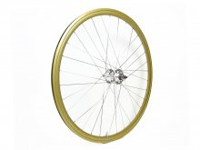 CANDYRIM GOLD with Rainbow Lamé RIM & SILVER HUB REAR WHEEL