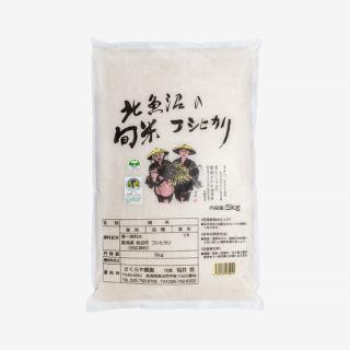 北魚沼の旬米コシヒカリ【精米/減農薬栽培】 5kg袋
