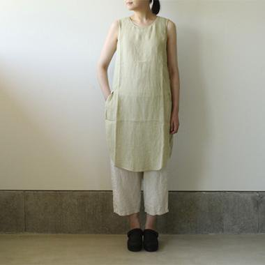 linen sleeveless slit OP