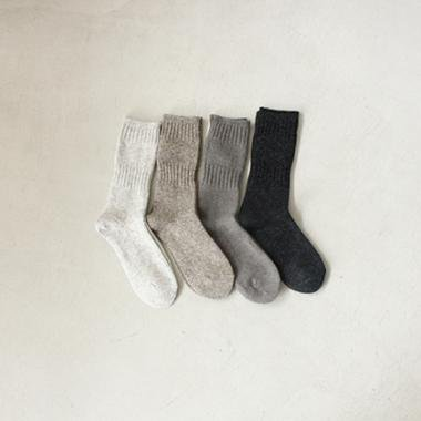 wool cashmere rib socks