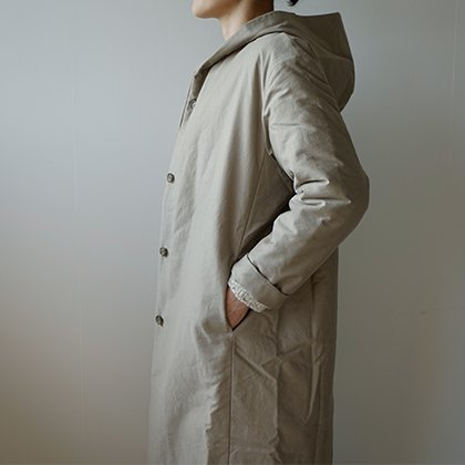 padding hooded coat
