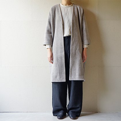 wool tweed robe coat
